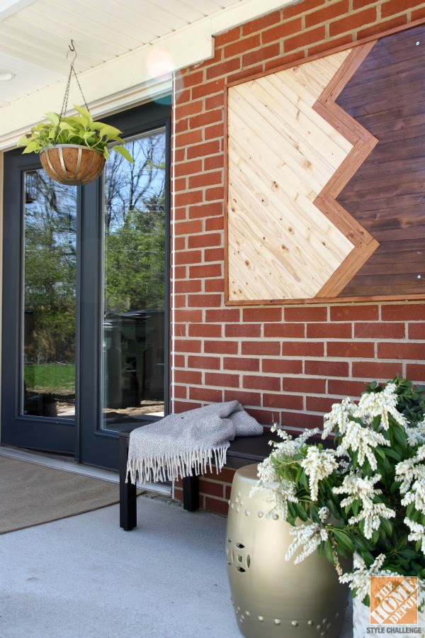 10 diy wall art projects for the outdoors for Home exterior wall design