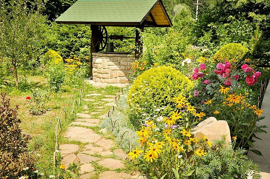 Pathway leading to the well