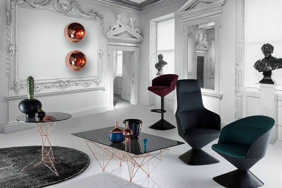 Pivot Chairs by Tom Dixon to be featured at Salone del Mobile 2014 Tom Dixon Reinvents The British Gentleman's Club For Milan Design Week 2014