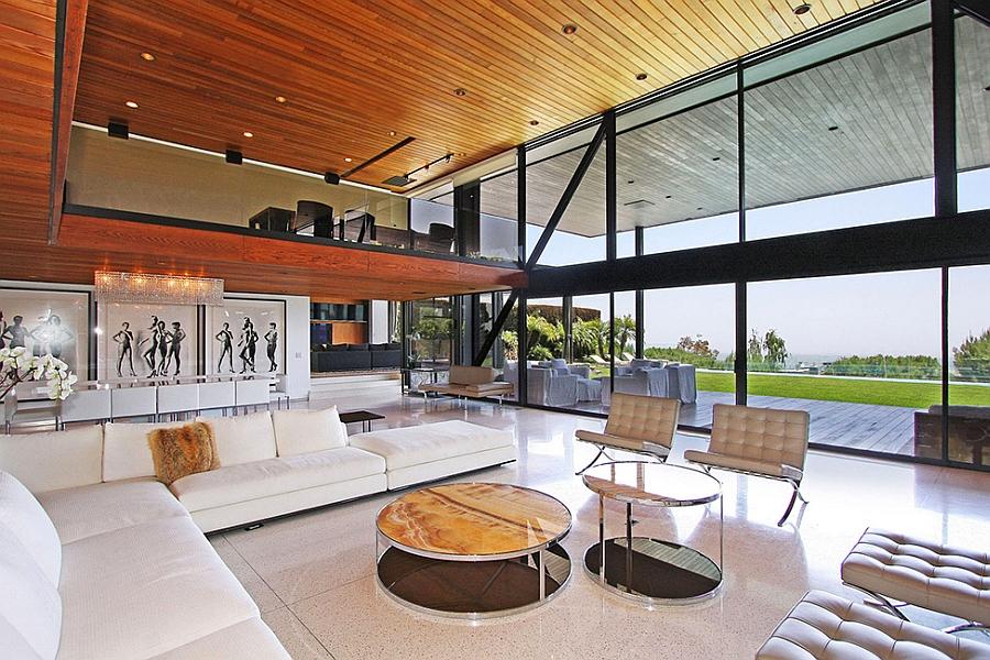 Plush decor in the living area