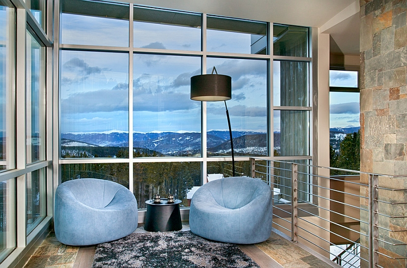 Plush seating to sink into as you marvel the majestic view outside