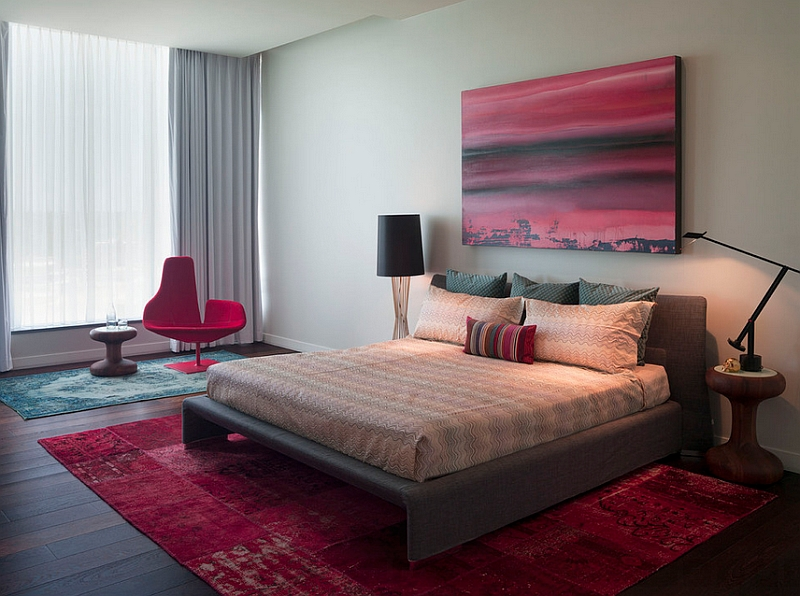 Pops of cheerful fuchsia in the bedroom Iconic Modern Chairs That Usher In Color And Sculptural Playfulness