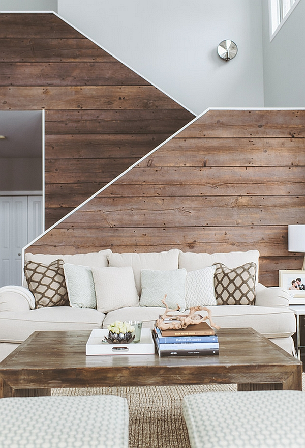 Reclaimed wood enhances the rustic cabin style