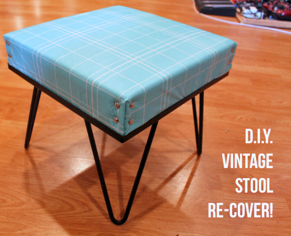 Recovered vintage stool