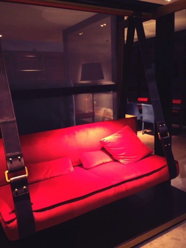 Red Hanging Chair - XXX - iSaloni 2014
