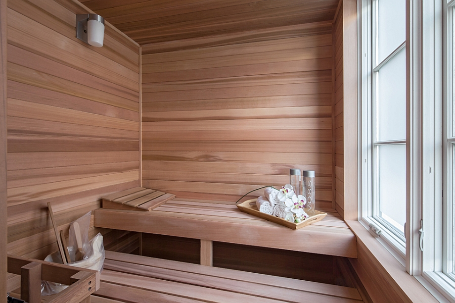 Relaxing home sauna idea