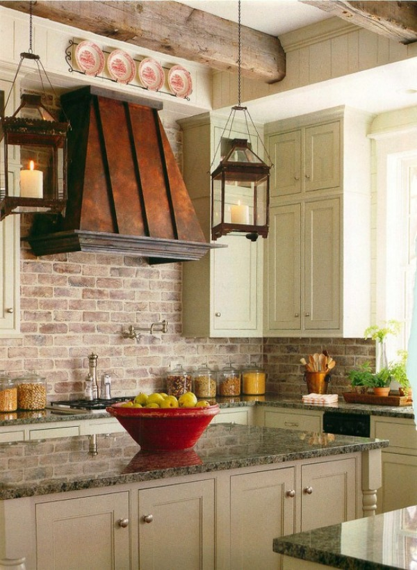 brick backsplashes rustic and of charm