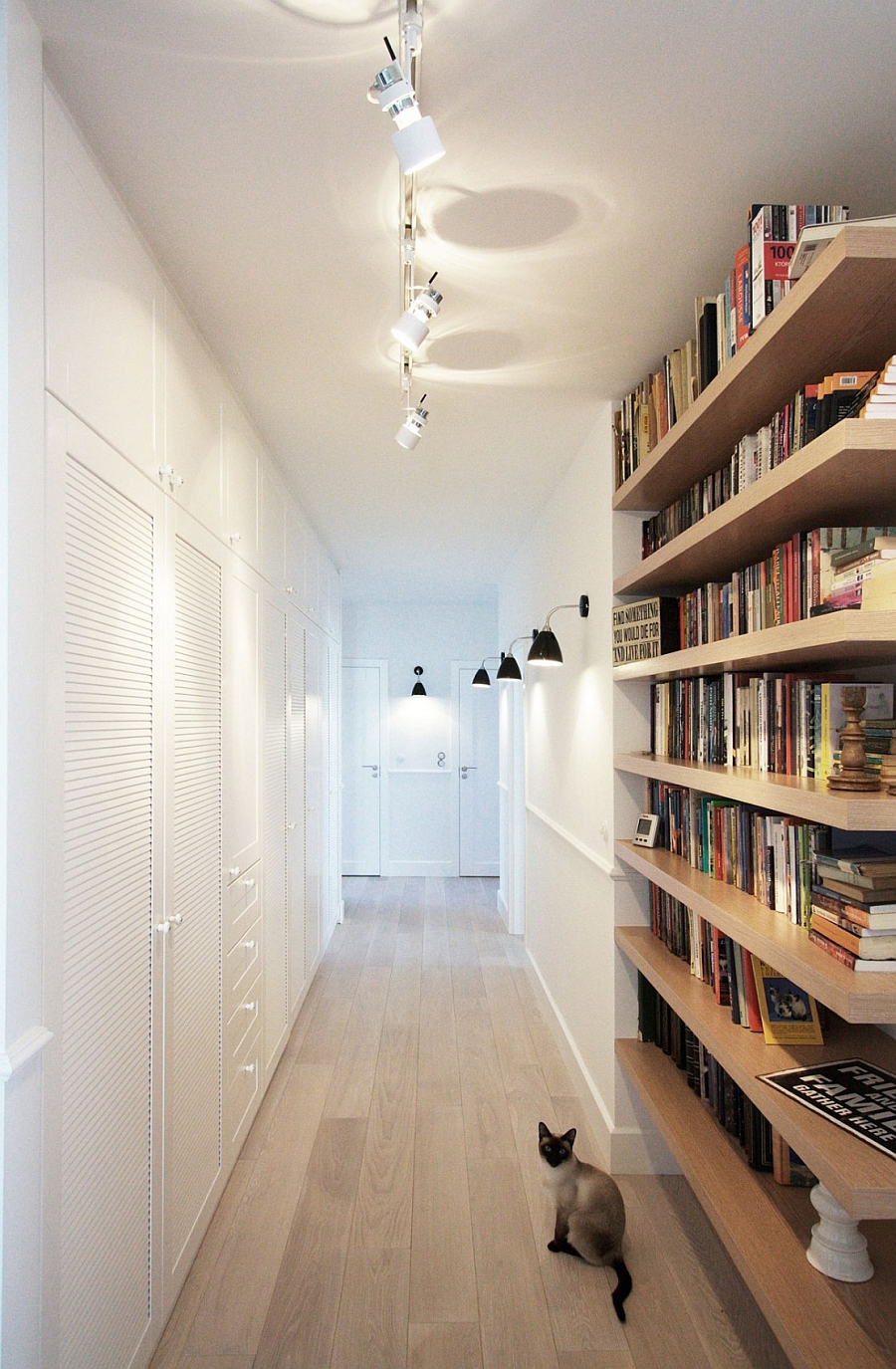Scandinavian  style Interior that is clad in white
