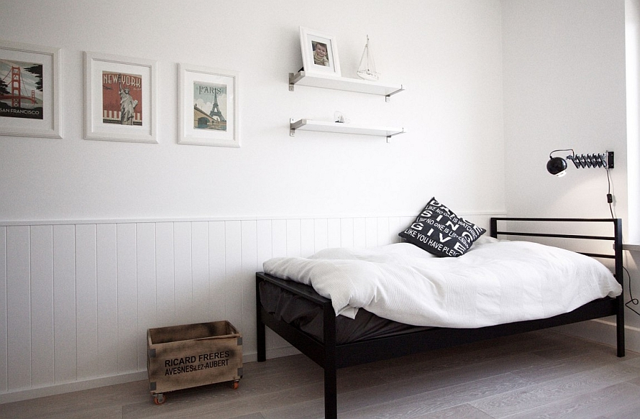 Scandinavian home decor mixed with a minimalist use of for Minimalist single bedroom