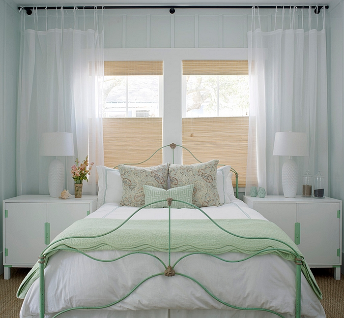 Simple way to usher in a beach style into the bedroom