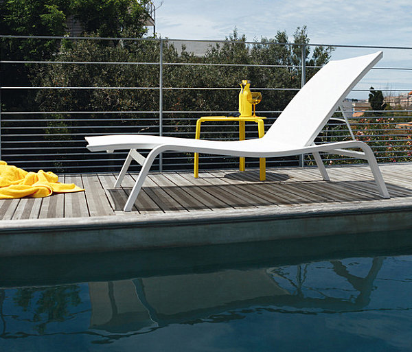 Sleek white sunlounger 12 Modern Outdoor Furniture Finds
