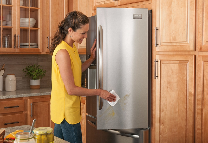 Smudge proof stainless steel appliances for the modern kitchen