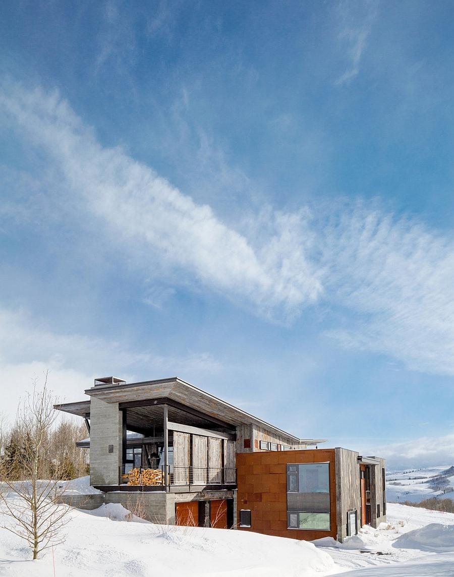 Snow-clad slopes around the Jackson Hole Retreat