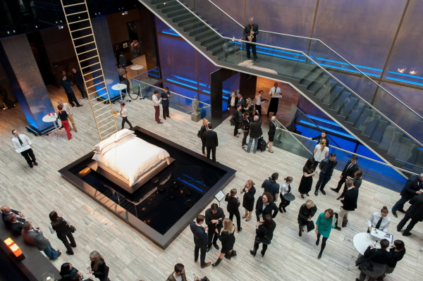 Sofitel Munich Bayerpost MyBed design competition event 1 600x399 Celebrating Clementine Pautrots MyBed™ Inspired Sleeping Universe