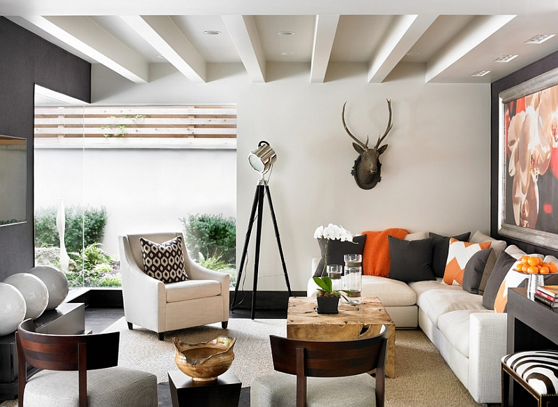 Spot the large chevron pattern in this room