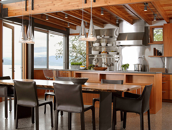 View In Gallery Stainless Steel Backsplash In An Industrial Kitchen