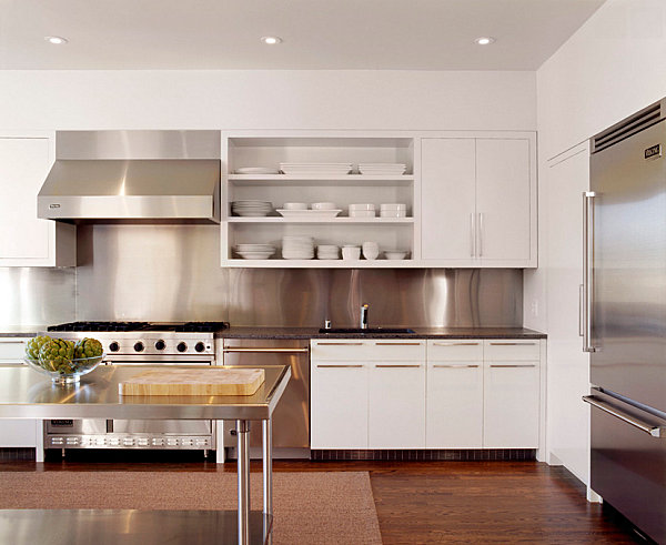 Attractive View In Gallery Stainless Steel Provides A Clean Look In The Kitchen