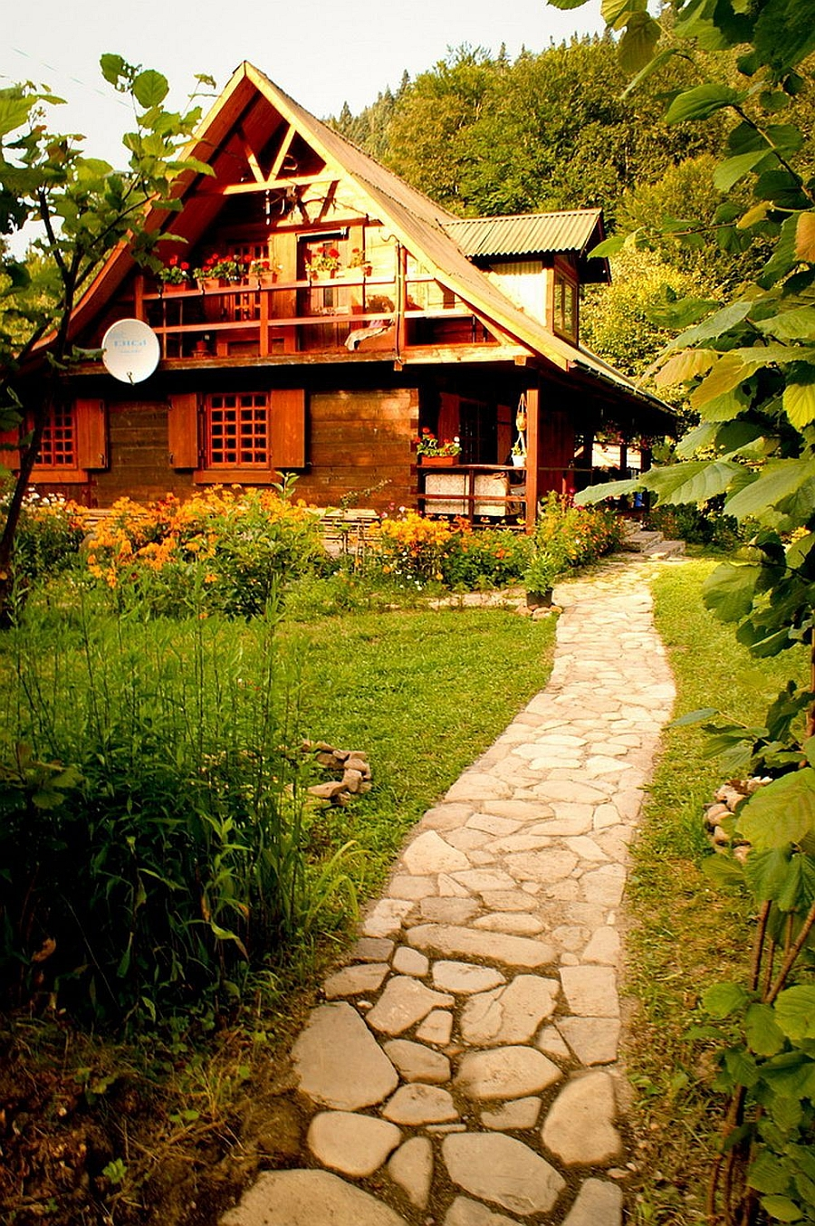 This rustic mountain house will make you wanna move to romania for Rustic mansion