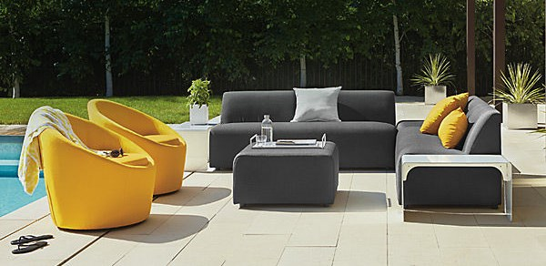 Striking modern outdoor seating