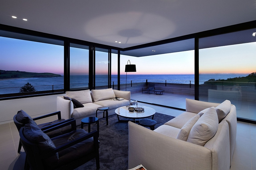 Stunning views of the ocean and sunset at the Lamble Residence