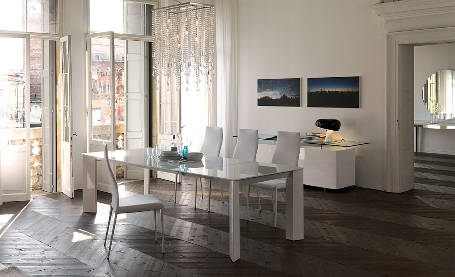 Stylish Brera Dining Table in White
