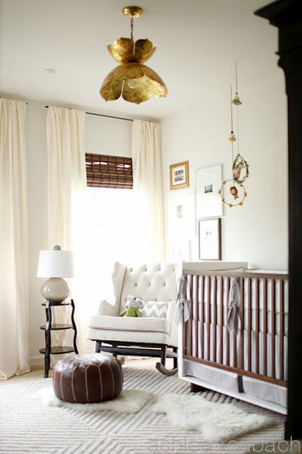 Stylish baby nursery idea