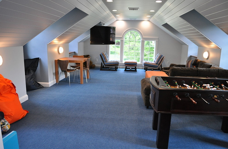 How to transform your attic into a fun game room Room decorating games for adults