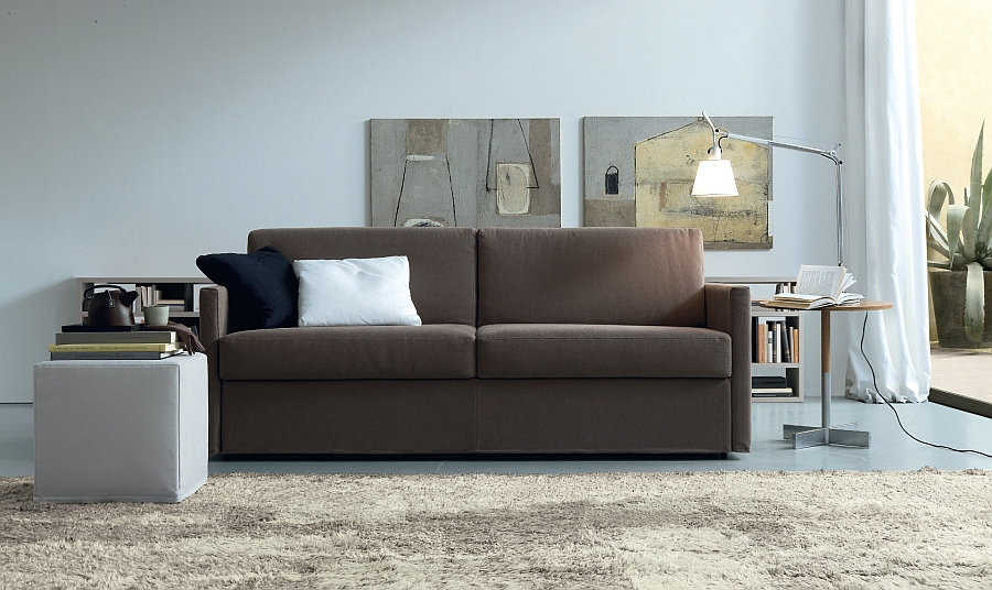 Stylish modern sleeper sofa for small rooms