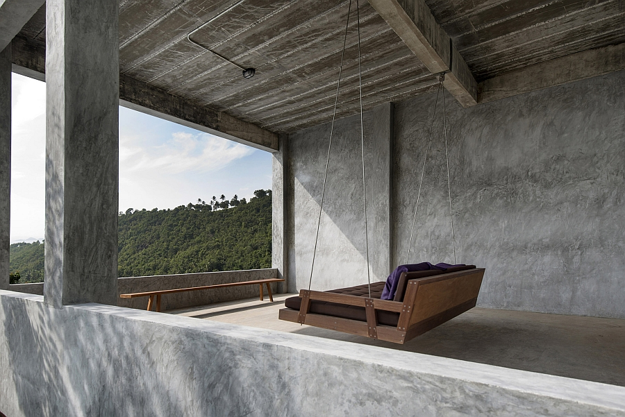 Swing with a view of the outdoors