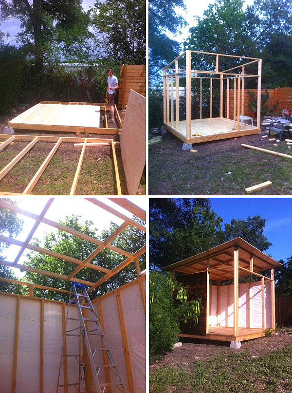 The beginning phases of the tiny house project