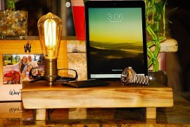 Multifunctional Dock Lamp Blends Sustainability With Warm Wooden Tones