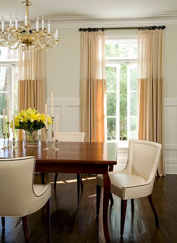 Sheer curtains ideas pictures design inspiration Dining room window curtains