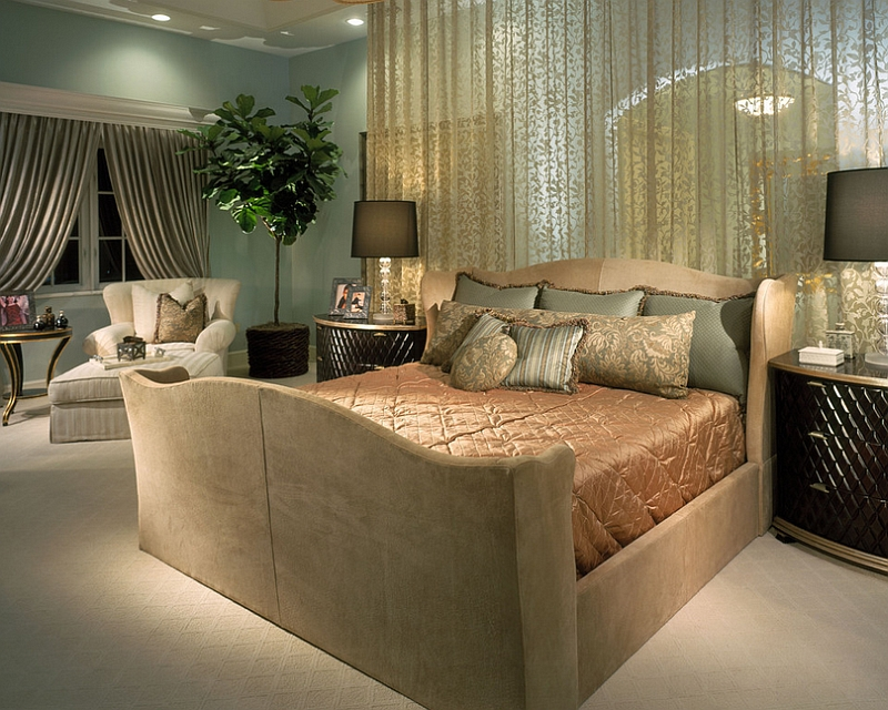 Traditional bedroom with plenty of opulence