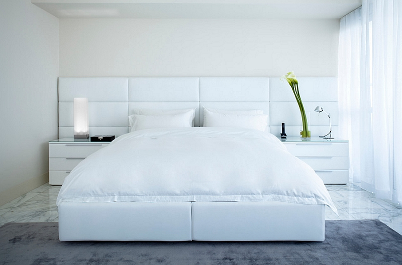 Tranquil vibe of the white minimal bedroom
