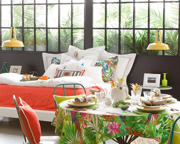Tropical decor design ideas pictures and inspiration for Tropical interior design ideas