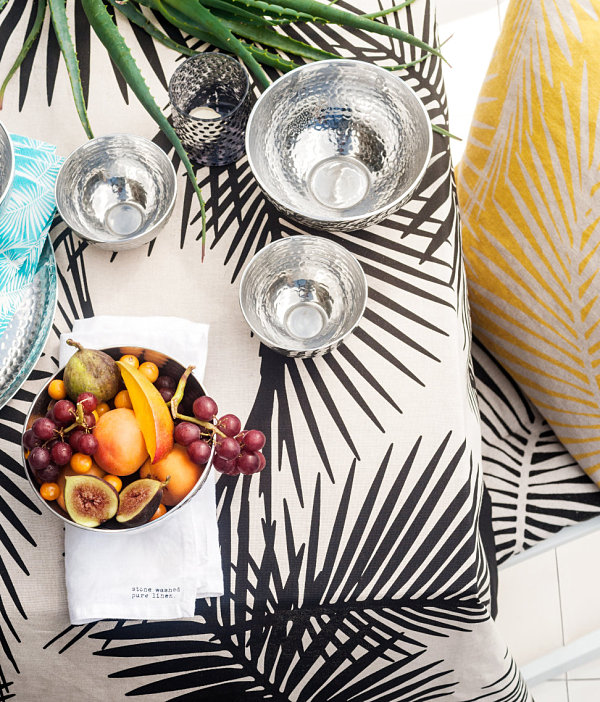 Tropical textiles from H&M Home