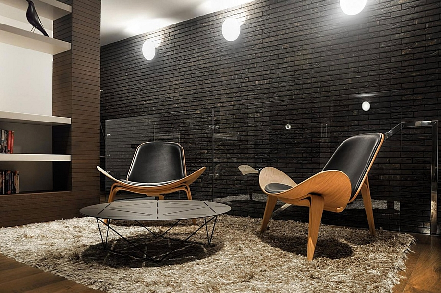 Twin guest chairs make for a cozy conversation nook