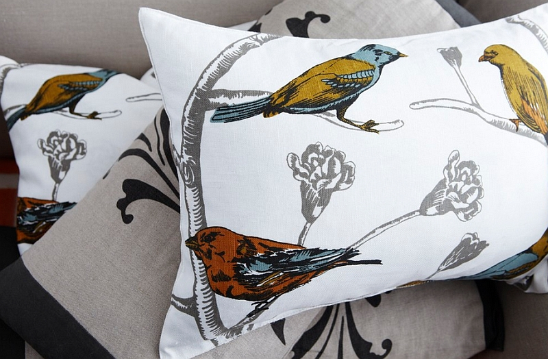 Use bird prints in colors that reflect spring freshness