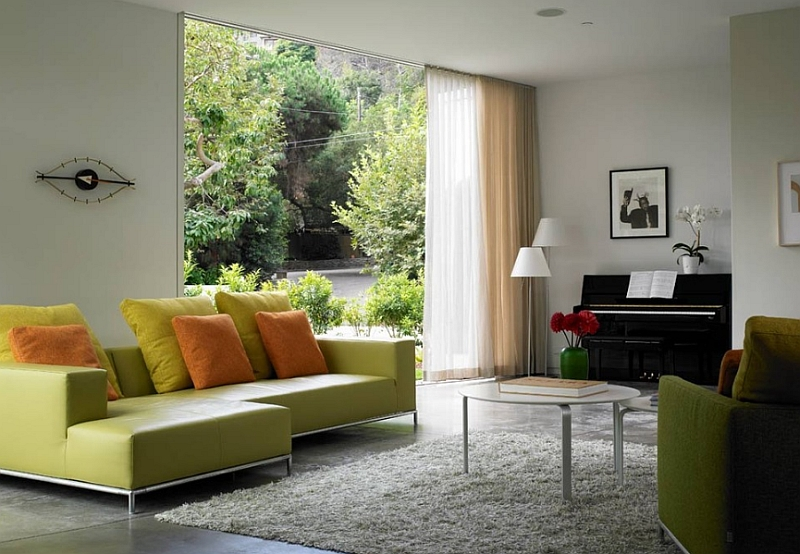 Use drapes to create instant focal points in the room