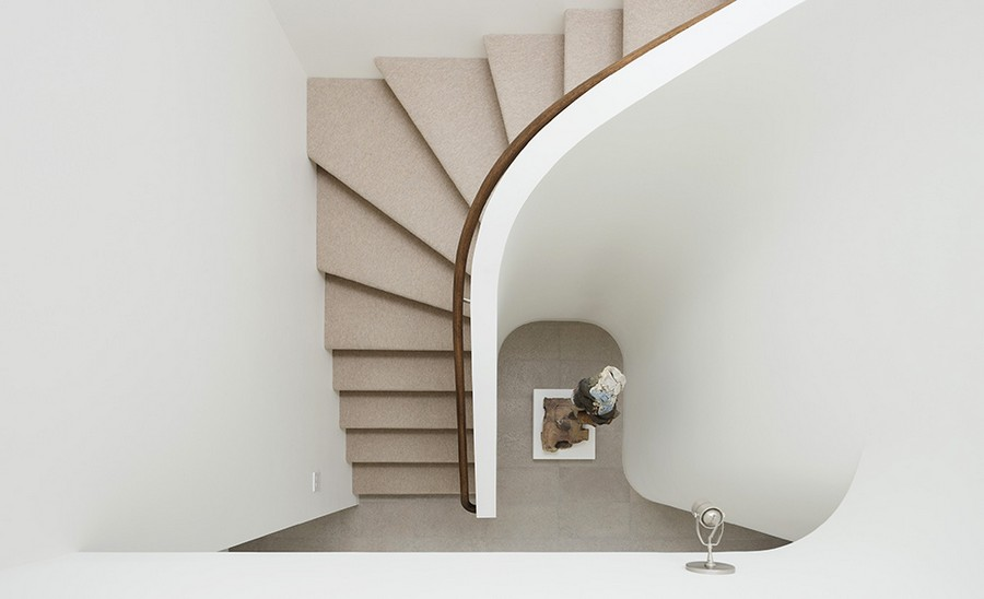View of the space-saving staircase design from top