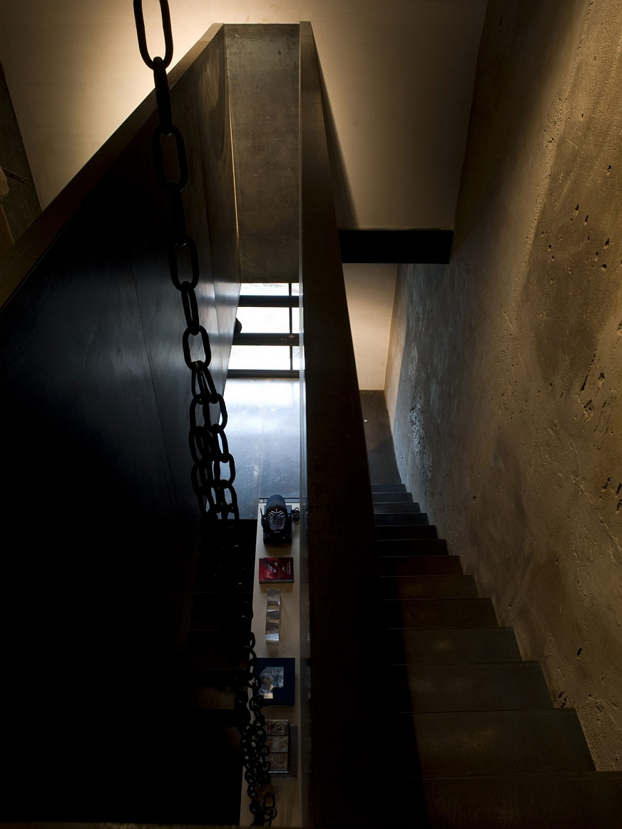 View of the staircase from the top