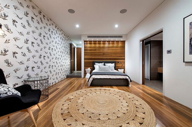 Wallpaper steals the show in this contemporary Perth bedroom