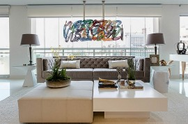 White Chinese garden stools for sleek modern homes