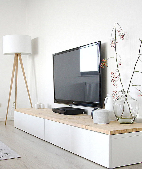 Modern media consoles for big screen tvs White media console