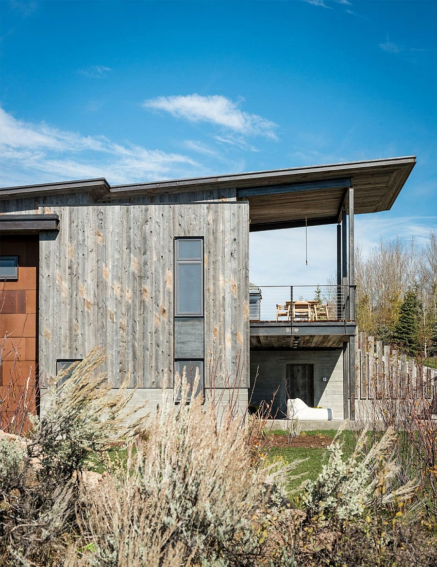 Wood clad exterior of the stylish retreat