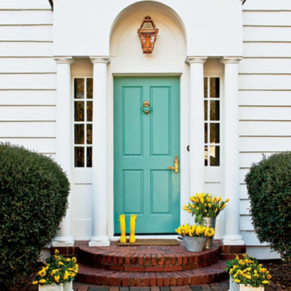 Make a dramatic first impression 15 painted front doors Dark green front door paint