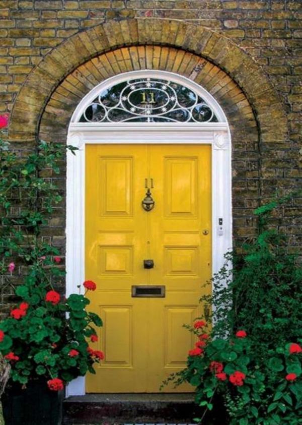 bring yellow front door