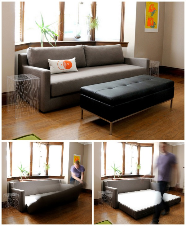 charcoal sleeper sofa
