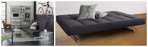 dark grey sleeper sofa