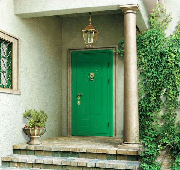 kelly green front door